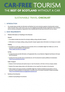 Sustainable Transport Visitor Attraction Checklist cover