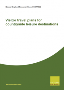 Visitor travel plans for countryside leisure destinations cover